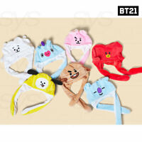 BTS BT21 Official Authentic Goods Action Hat Ear Moving Jumping + Tracking#