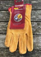Gardening Gloves Ladies Womens 100% Leather Bramble Thorn Proof Heavy Duty