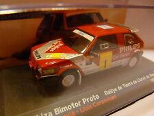 voiture 1/43 IXO altaya SEAT de Rallye : IBIZA Bimotor proto PHILIPS 1988