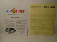 1964 VINTAGE AIRLINES PLASTIC MODELS 4 PAGE CATALOG & PRICE LIST MINT CONDITION