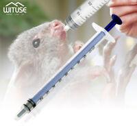 50x plastic nutrient syringe hydroponic liquid measuring sampler injector 1/50ml
