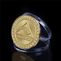 Gold-Plated The United States Masonic Freemasonry Commemorative Coin Gift LJ