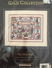 Dimensions Gold Collection CAT COLLECTION Cross Stitch Kit 35008 Sealed NIP RARE