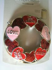 Yankee Candle Candy Hearts Illuma Lid Red Pink Silver New Fast Free Shipping