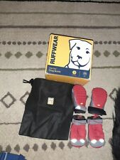 4 Ruffwear Grip-Tex Vibram Dog Boots Shoes Red  with grey.  Size 2. in