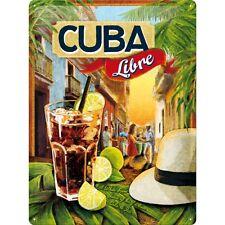 Targa in Latta Cuba Libre 30 x 40 in metallo stampato e decorato