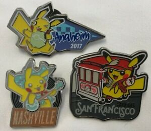 Pikachu Collector Lapel Pins | Pokemon World Championship | Select from 2016-18