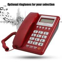 Wired Corded Telephone Desktop Phone Office Landline Caller ID Fixed Telephone