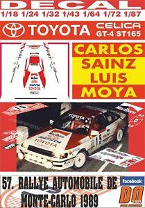 DECAL TOYOTA CELICA GT-4 CARLOS SAINZ R. MONTECARLO 1989 DnF (06)
