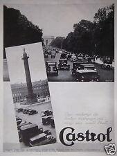 PUBLICITÉ 1935 CASTROL VOITURES DE TOUTES MARQUES MAIS UNE HUILE ARC DE TRIOMPHE