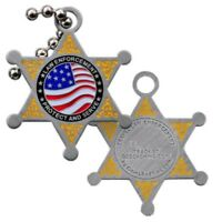 Travel Law Enforcement CoinsandPins Traveltag Geocaching Travelbug Geocoin
