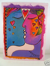 Laurel Burch Happy Anniversary Greeting Card Bright Hearts And Kisses New