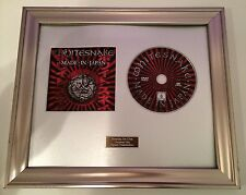 PERSONALLY SIGNED/AUTOGRAPHED WHITESNAKE -MADE IN JAPAN DVD  FRAMED PRESENTATION