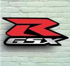 GSXR LOGO 2FT GSX R GARAGE SIGN PLAQUE SPORT MOTORBIKE K1 K2 K5 K6 K7 K8 K9 K10