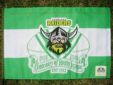 NRL CANBERRA RAIDERS FLAG Centenary Large  - NEW!