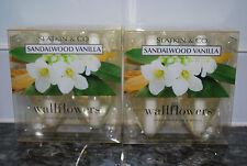 Bath & Body Works Wallflowers RARE Plug In Refills Lot 4 SANDALWOOD VANILLA