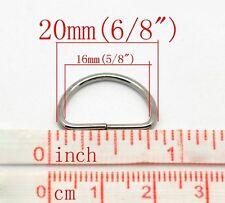 (50) 20mm D Rings Lite Metal Rings Webbing straps purses Diy Crafts