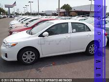 GTG 2009 - 2013 Toyota Corolla 6PC Chrome Stainless Steel Pillars Posts