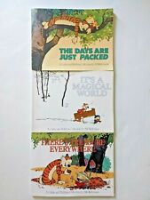 """3 Calvin and Hobbes Collection books by Bill Watterson 1990's 12"""" x 9"""" PB Comics"""