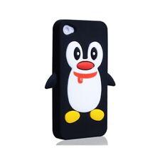 KOLAY Pingüino Funda de silicona para Apple iPhone 4/4S