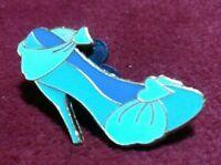 Cinderella Princess Heart Teal with Golden Trim Slipper Shoe Disney Pin 2012