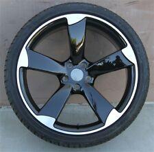 (4)set 19X8.5 5X112 WHEELS & TIRES PKG AUDI A4 S4 A5 A6 TT VW JETTA PASSAT GTI