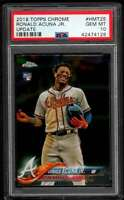2018 Topps Chrome Update Ronald Acuna JR. RC #HMT25 Atlanta Braves PSA 10