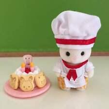Rare Sylvanian Families Forest kitchen Ltd Chocolate rabbit baby Birthday cake