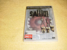 SAW III horror uncut 2006 DVD NEW & SEALED rare see through clear insert slip R4