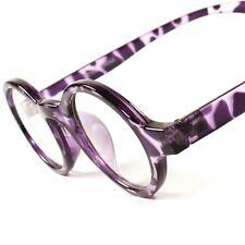 Vintage Retro Hippie Mens Womens 80's Clear Lens Eye Glasses Round Frame E34C
