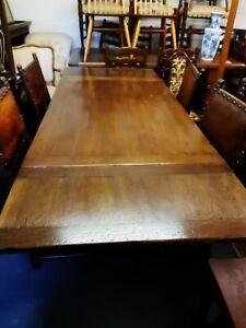 Superb Ipswich oak Drawleaf Refectory Table 20th Century