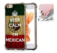 For iPhone X 6 6s 7 8 Case Cover Keep Calm I'm Mexican, Mexico Flag