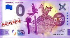 UE GW-3 / BIOPARC / BILLET SOUVENIR 0 € / 0 € BANKNOTE 2021-3