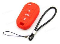 CB227 Remote Silicone Key Case Protective For Peugeot 208 207 3008 308 RCZ 508♫