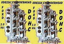 2 FORD LINCOLN MERCURY 3.0 DOHC CYLINDER HEADS CAST#RF-F7DE ONLY 96-02 REBUILT
