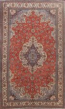 Vintage Floal Anatolian Turkish Oriental Area Rug Hand-knotted Wool Carpet 6x10