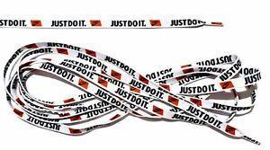Shoe Laces (White) Just Do It With Nike Logo Unisex