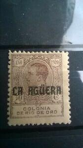 LA AGUERA 1920. 30 CTS. MH*. VERY SCARCE