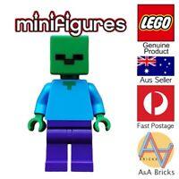 Genuine LEGO® Minifigure - Minecraft Zombie