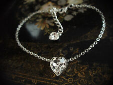 Crystal Heart Bracelet Made with Swarovski Elements