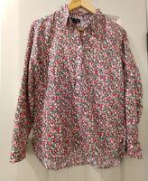 NEW Gap Popover Cotton Boyfriend Pink Deco Floral Shirt / Рубашка, XS.