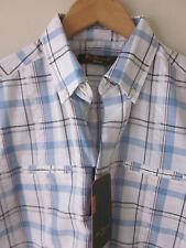 BNWTs Ben Sherman Shirt (S) Heritage Classic-Check seersuck Union-Fit en coton blanc