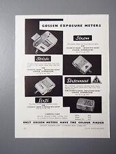 R&L Ex-Mag Vintage Advertisement: Gossen Light Exposure Meter 1950's