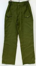 "Bsa Olive Green Uniform Pants Boys Size 16 28"" Waist 28"" inseam"