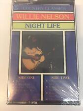 """WILLIE NELSON CASSETTE """"NIGHT LIFE""""  NEW & SEALED"""