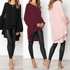 ZANZEA Women Casual Basic Bell Sleeve Top Tee T Shirt Loose Flare Tunic Blouse