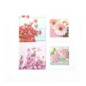 Tallon Pack of 8 Square Floral Design Notecards With Envelopes 135 x 135mm