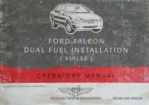 1995 TICKFORD FORD FALCON DUAL FUEL INSTALLATION (VIALLE) OPERATOR'S MANUAL BKLT