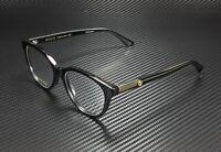 GUCCI GG0379O 001 Round Black Crystal Black Demo Lens 52 mm Women's Eyeglasses