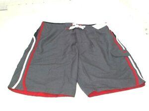 Speedo Mens Lightweight Quick Dry Swim Trunks Shorts w/ Mesh Lining Grey Large